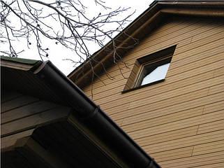 Фасадная доска из дпк с текстурой дерева