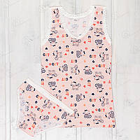Комплект одежды девочкам разных возрастов с ярким рисунком Majestic MJ0017