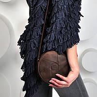 Сумка - кроссбоди кожаная женская коричневый, фото 1
