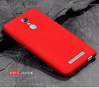 Чехол Бампер MAKAVO для Xiaomi Redmi Note 3 / Redmi Note 3 Pro Ультратонкий матовый красный