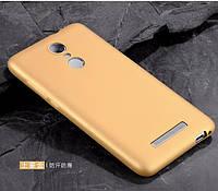 Чехол Бампер MAKAVO для Xiaomi Redmi Note 3 / Redmi Note 3 Pro Ультратонкий матовый золотой