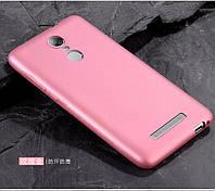 Чехол Бампер MAKAVO для Xiaomi Redmi Note 3 / Redmi Note 3 Pro Ультратонкий матовый розовый
