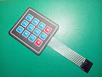 Клавиатура мембранная, 3х4 матрица, Arduino