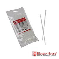 ElectroHouse Стяжка кабельная белая 3x150 EH-K-002