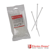 ElectroHouse Стяжка кабельная белая 4x150 EH-K-005