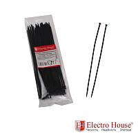 ElectroHouse Стяжка кабельная чёрная 3x250 EH-B-004