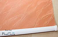Рулонные шторы на окна ткань Вода 1844 (оранжевый цвет) 40см