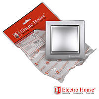 ElectroHouse Выключатель серебро Enzo EH-2181-ST