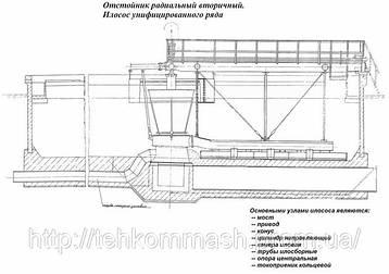 Илосос  диаметром 24 метров М743 для вторичных радиальных отстойников, ИВР-24, фото 2