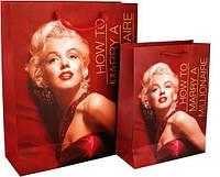 """Пакет подарочный """"Monroe"""", Акцент,( 26х32х10 см)"""