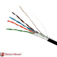 ElectroHouse Кабель FTP  4х2х0,51 CCA (наружный монтаж, со стальной проволокой)