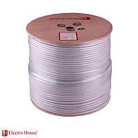 ElectroHouse Телевизионный (коаксиальный) кабель RG-6U EH-11
