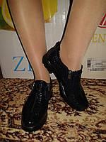 Женские лаковые туфли темно-синего цвета.р.37.39.