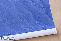 Рулонные шторы на окна ткань Вода 2090 (синий цвет) 40см