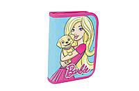Пенал твердый одинарный с двумя клапанами Barbie mint
