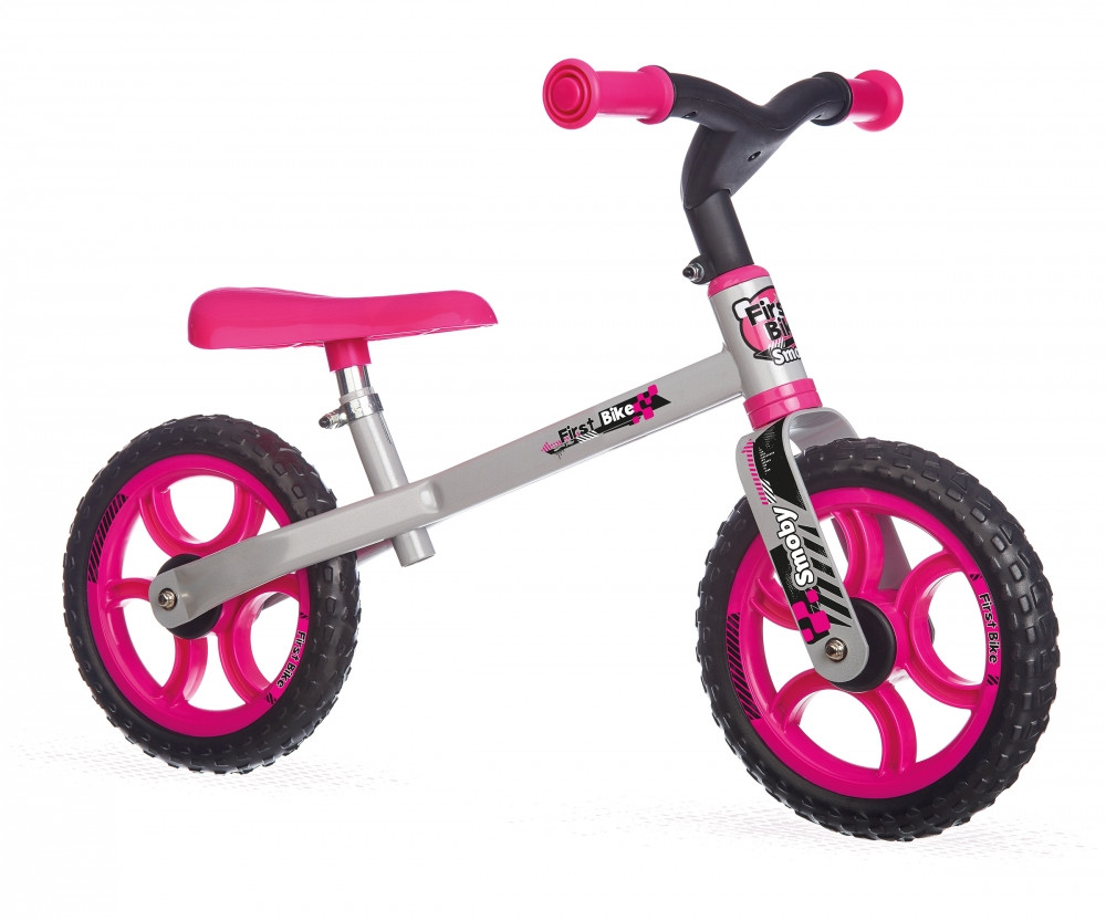 Беговел First Bike (розовый), Smoby (770201)
