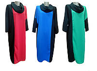 Платье женское Джерси Батал Хомут больших размеров, р.р.52-60