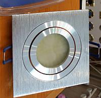 Точечный светильник Feron DL6120 серебро (поворотный квадрат)
