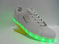 Детские кроссовки LED c светящей подошвой и подзарядкой(12 режимов) (разм. с 36 по 41) Розница