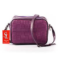 Сиреневая стеганная женская мини-сумочка - клатч чart. 1370f