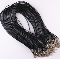 Кожаный шнурок 1,5 мм 40 см для кулонов и рукоделия