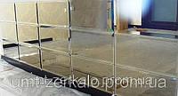 Плитка зеркальная фриз с фацетом 10мм графит 60*600 мм