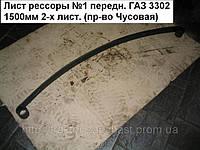Лист рессоры №1 передн. ГАЗ 3302 1500мм 2-х лист. (пр-во Чусовая)