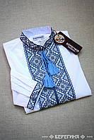Подростковая вышитая сорочка Витраж Сине-черный 35