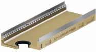 Низкий канал с отводом DN110 кромка нержавеющая сталь ACO Multiline V 300