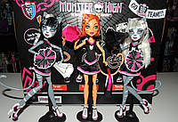 Набор кукол Monster High Fearleading Toralei Meowlody Purrsephone Веркошки Торалей Пурсефона Мяулодия, фото 1