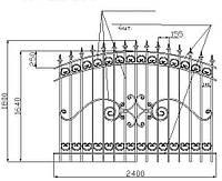 Металлический забор с коваными элементами, фото 1