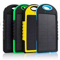 Зарядка power bank, Пыле-влагозащищенный аккумулятор с солнечной батареей Solar Power Bank 25000mAh