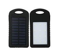 Зарядное устройство с солнечной и светодиодной панелью - Solar Power Bank UKC + LED 10800 mAh