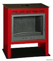 Чугунная печь-камин INVICTA PHOENIX (красная отделка)