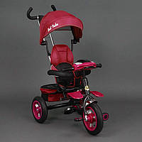 *Велосипед 3-х колёсный BestTrike Красный арт. 6699 (надувные колёса, поворотное сидение, фара, ключ