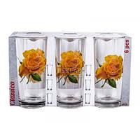 Набор стаканов ОСЗ Роза желтая 200 мл 6 шт 05c1256 80003233