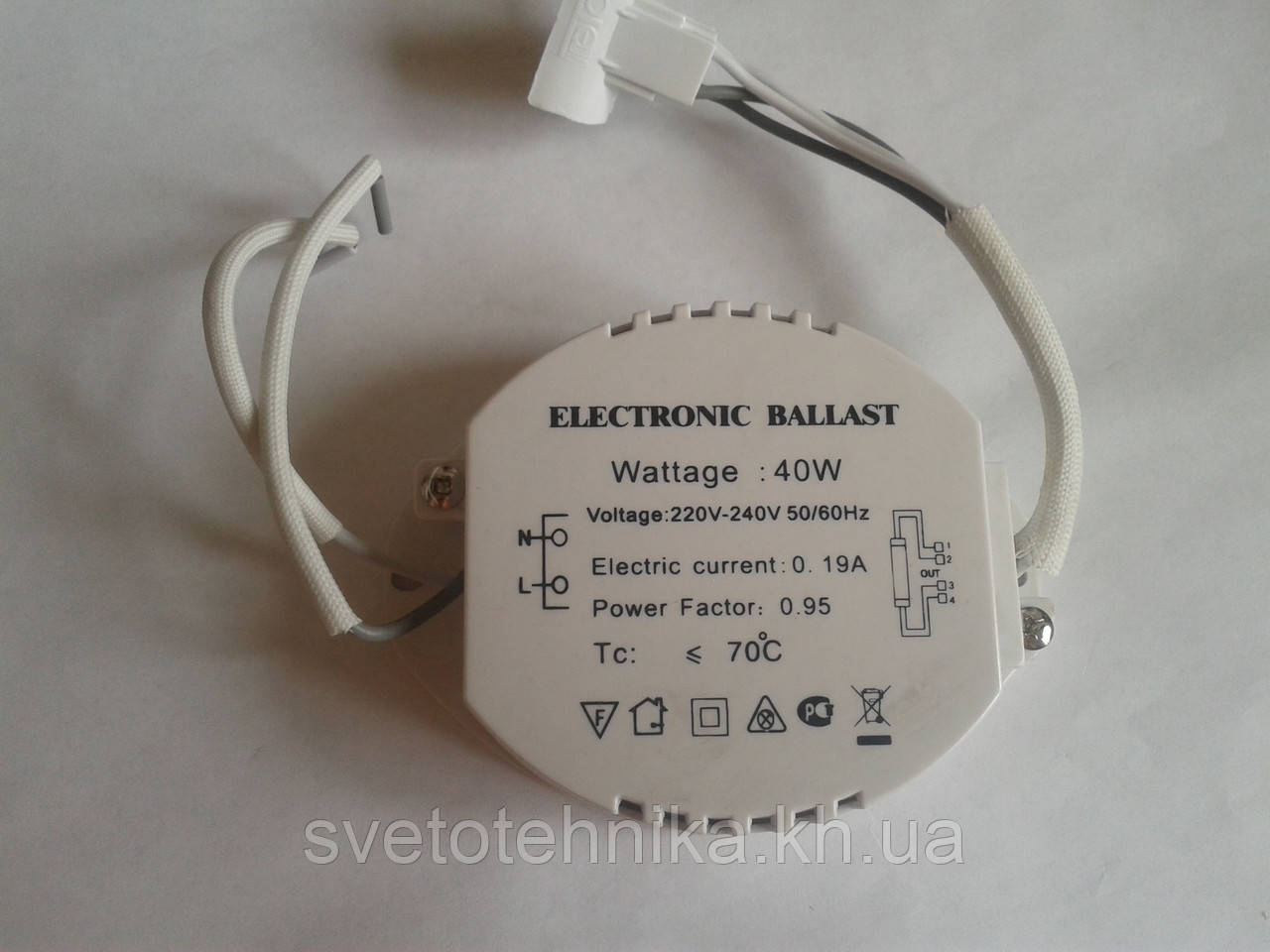 Электронный балласт 40 Вт для кольцевых люминесцентных ламп