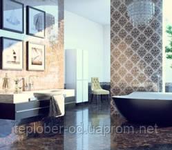 Керамическая плитка Lorenzo Intarsia темно-бежевый