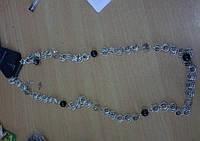 Бусы металл+кристаллы.394