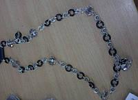 Бусы металл+кристаллы.398