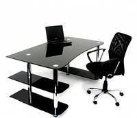 Стеклянный компьютерный стол D13