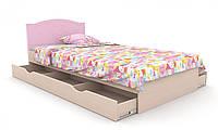 """Детская деревянная кровать """"Kiddy 2"""" с ящиком (120х190 см) ТМ Вальтер-С Венге/Ваниль KKY-1.12.1"""