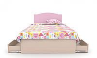 """Детская деревянная кровать """"Kiddy 3"""" с ящ. на обе стороны (120x190 см) ТМ Вальтер-С Венге/Розовый KKYY-1.12.8"""