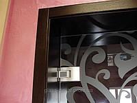 Стеклянные двери с петлями TENSOR DORMA (доводчик)