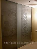 Стеклянная перегородка с раздвижной дверью и доводчиком. раздвижные стеклянные перегородки