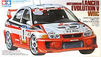 1:24 Сборная модель автомобиля Mitsubishi Lancer Evolution V WRC, Tamiya 24203