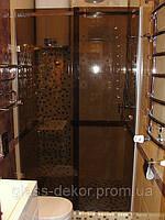Душевые кабины из стекла с раздвижной дверью