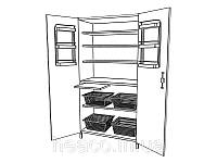 Шкаф медицинский для хранения медикаментов ШМ-К-02 (без сейфа) Medin (Медин)