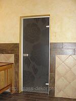 Стеклянные двери в алюминиевой коробке