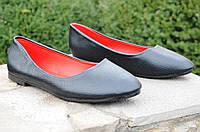 Балетки, туфли черные женские легкие и удобные (Код: 464)